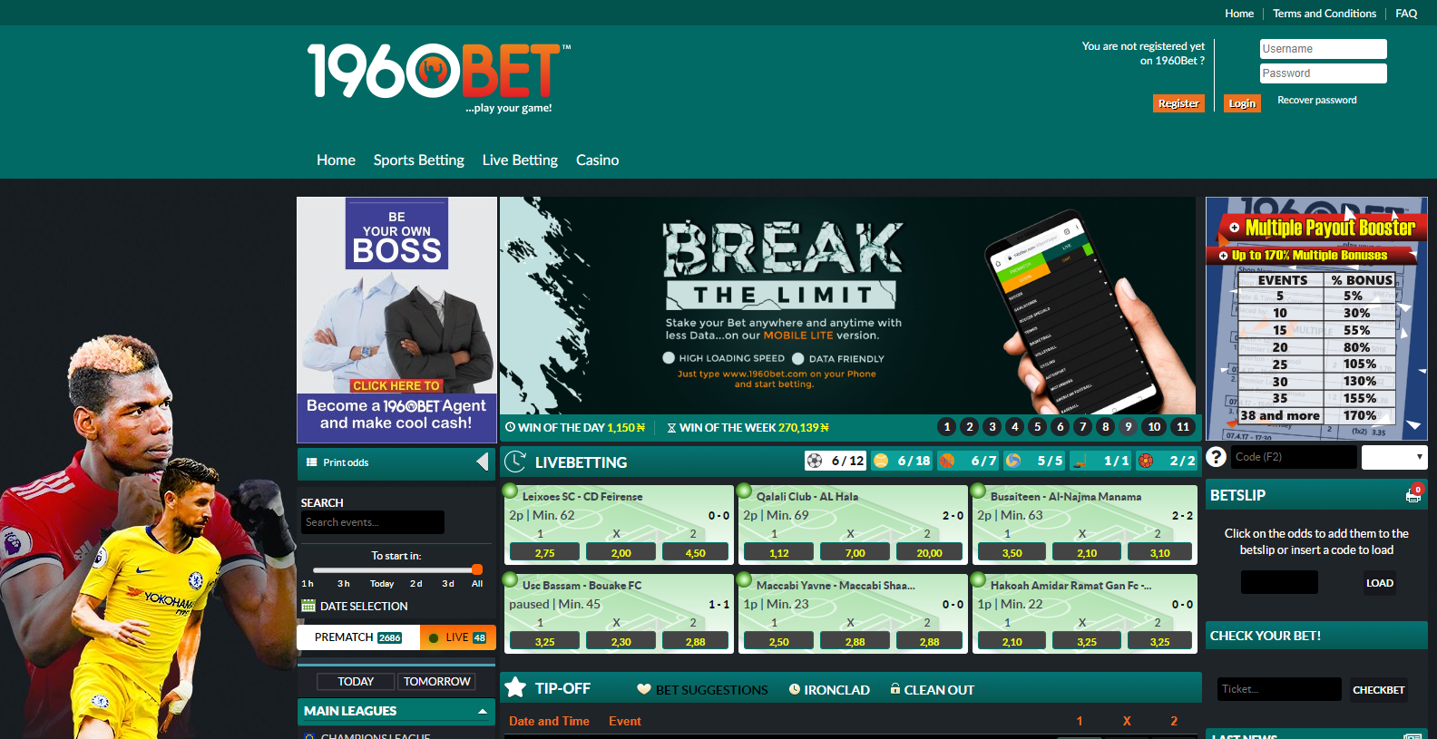 1960bet Nigeria Sports Betting Review May 2021