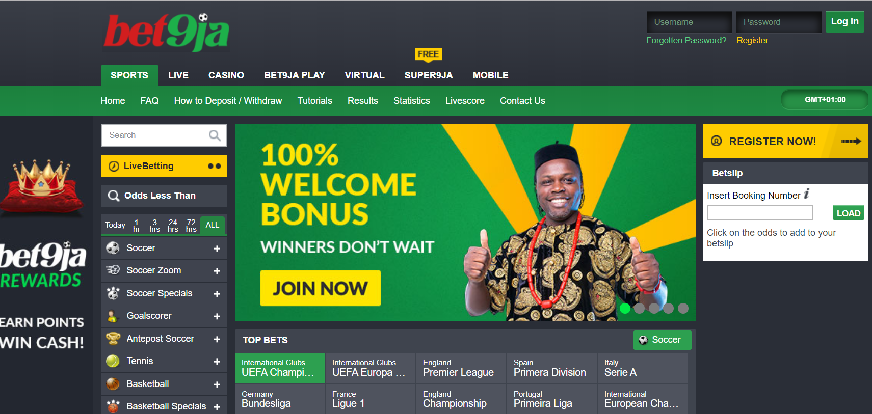 Bet9ja Nigeria Sportsbook Review March 2021