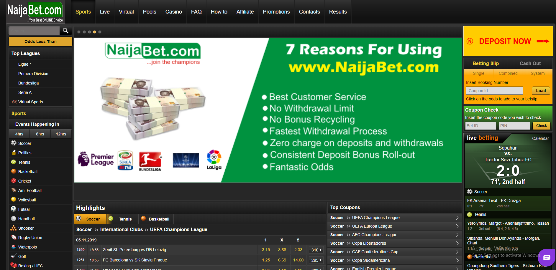 NaijaBet Nigeria Sports Betting Review March 2021
