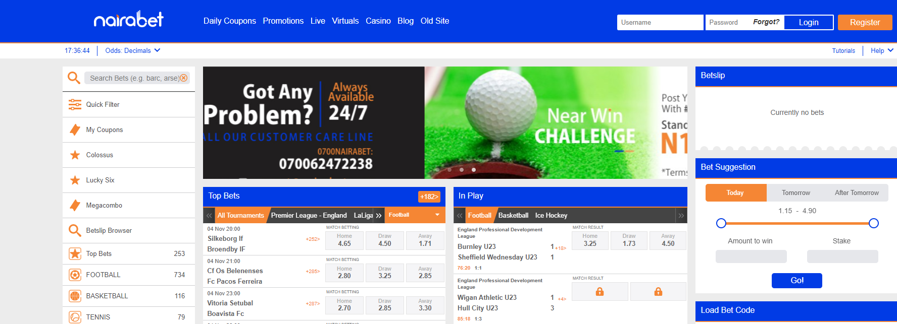 NairaBET Sportsbook Review March 2021