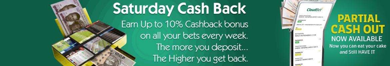 saturday cash back at cloudbet nigeria